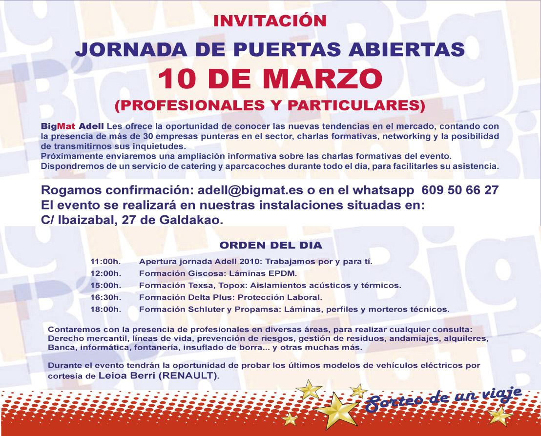 Invitación BigMat Adell:  Jornada de Puertas Abiertas