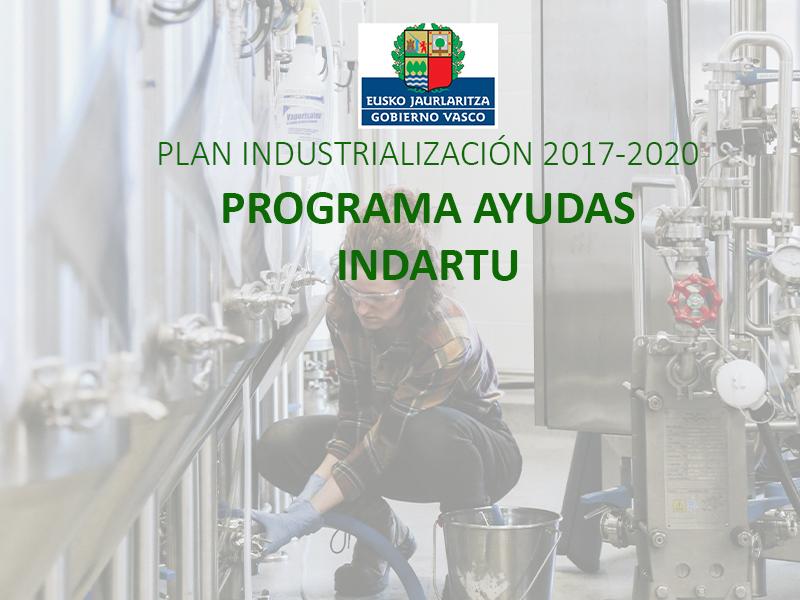 Plan Industrialización: Programa de Ayudas INDARTU 2020